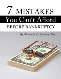 7 Mistake You Can't Afford Before Bankruptcy